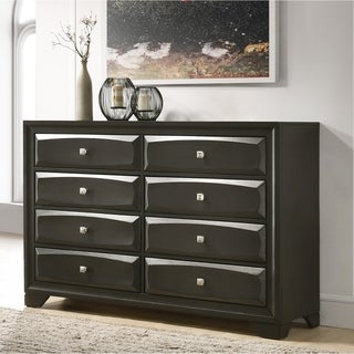 Oakland Antique Gray Finish Wood 6 Drawers Dresser