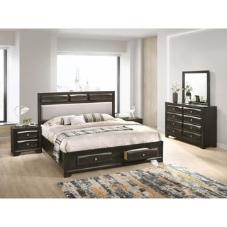 Oakland Antique Gray Finish Wood 5-PC Queen Size Bedroom Set