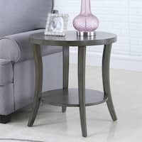 Perth Contemporary Oval Shelf End Table, Gray