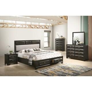 Oakland Antique Gray Finish Wood 5-PC King Size Bedroom Set