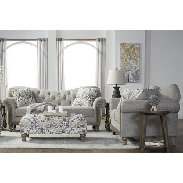 Fabric For Furniture: Shop Metropolitan Fabric Tufted Sofa And Loveseat Set In