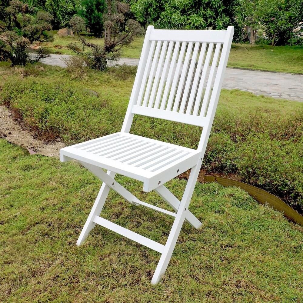 International Caravan Royal Fiji Acacia Folding Dining Chair (Set of 2)