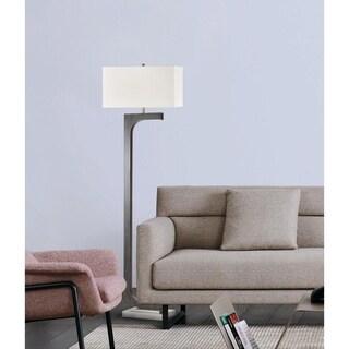 Nova Lighting Horseshoe Floor Lamp, Charcoal Gray
