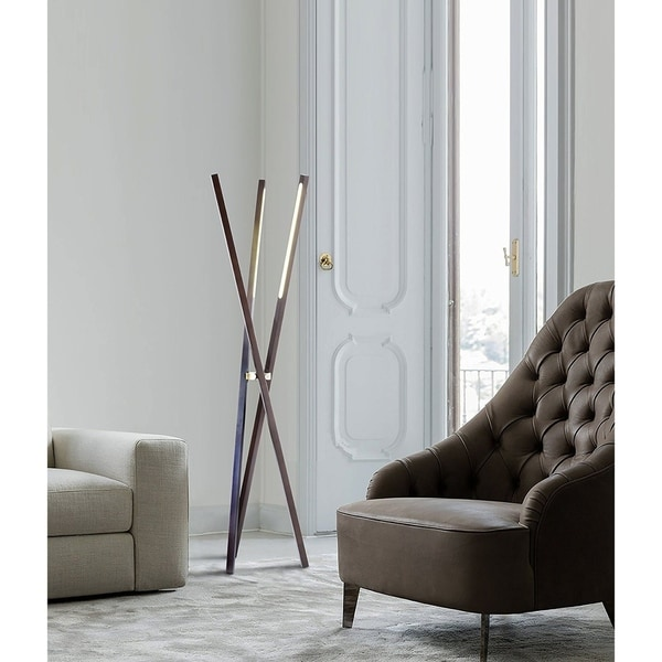 Nova Lighting Jackknife Tripod Floor Lamp/ Pecan