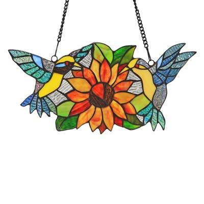 Chloe Tiffany Style Bird Design Window Panel/Suncatcher