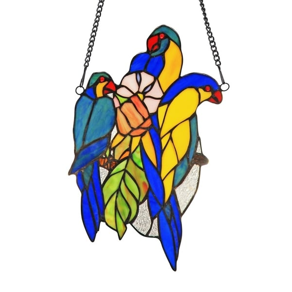 5db529ca1 Shop Chloe Tiffany Style Bird Design Window Panel/Suncatcher - On Sale - Free  Shipping Today - Overstock - 20256503