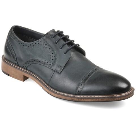 Vance Co. Men's 'Warren' Genuine Leather Cap-toe Brogue Dress Shoes