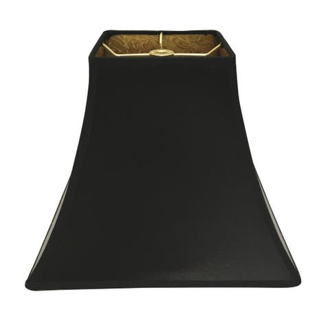 Royal Designs Black Square Bell Hardback Lamp Shade with Ponyhair Gold Lining