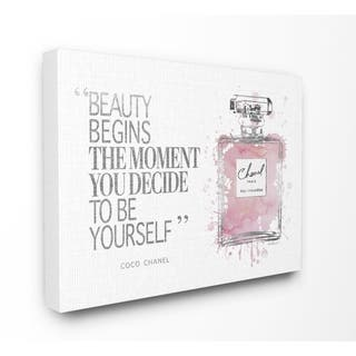 Stupell Industries Beauty Begins Fashion Perfume Wall Art