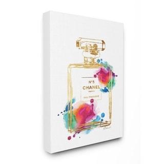 Stupell Industries Fashion Perfume Gold Rainbow Wall Art