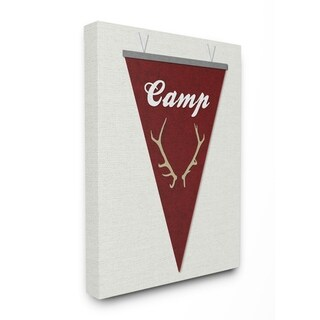 Stupell Industries Camp Pennant Fabric Collage Red Wall Art