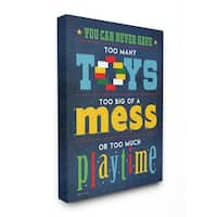 Stupell Industries Toys Mess And Playtime Wall Art