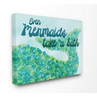 Stupell Industries Even Mermaids Take A Bath Wall Art