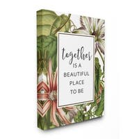 Stupell Industries Together Is Beautiful Flowers Wall Art