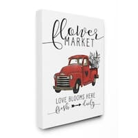 Stupell Industries Flower Market Truck Love Blooms Wall Art