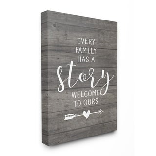 Stupell Industries Every Family Has A Story Wall Art