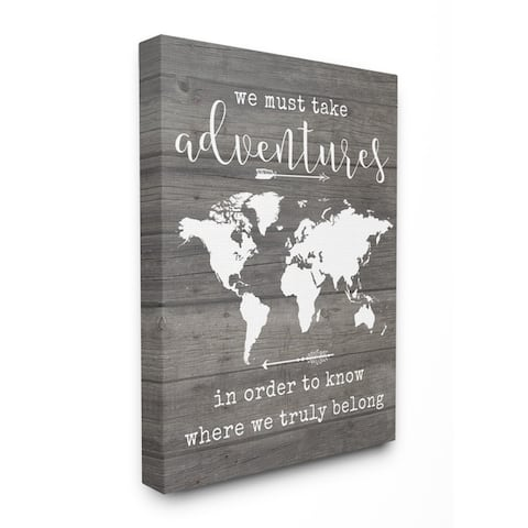 Stupell Industries Take Adventures Map Wall Art