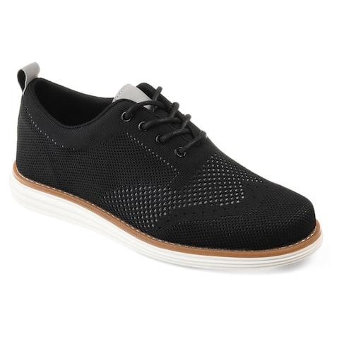 Vance Co. Men's 'Ezra' Comfort-sole Lightweight Knit Wingtip Dress Shoes