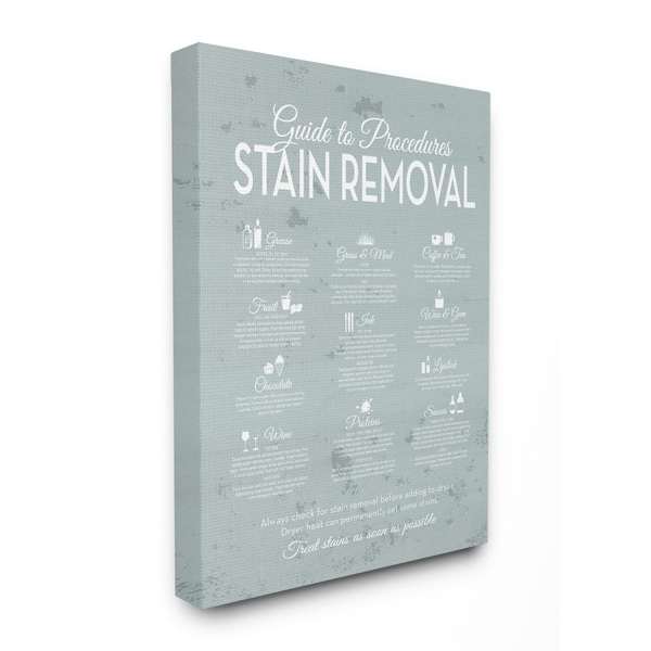 Shop Stupell Industries Guide To Procedures Stain Removal