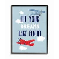 Stupell Industries Let Your Dreams Take Flight Framed Wall Art