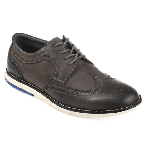Vance Co. Men's 'Drake' Comfort-sole Genuine Leather Wingtip Brogue Dress Shoes