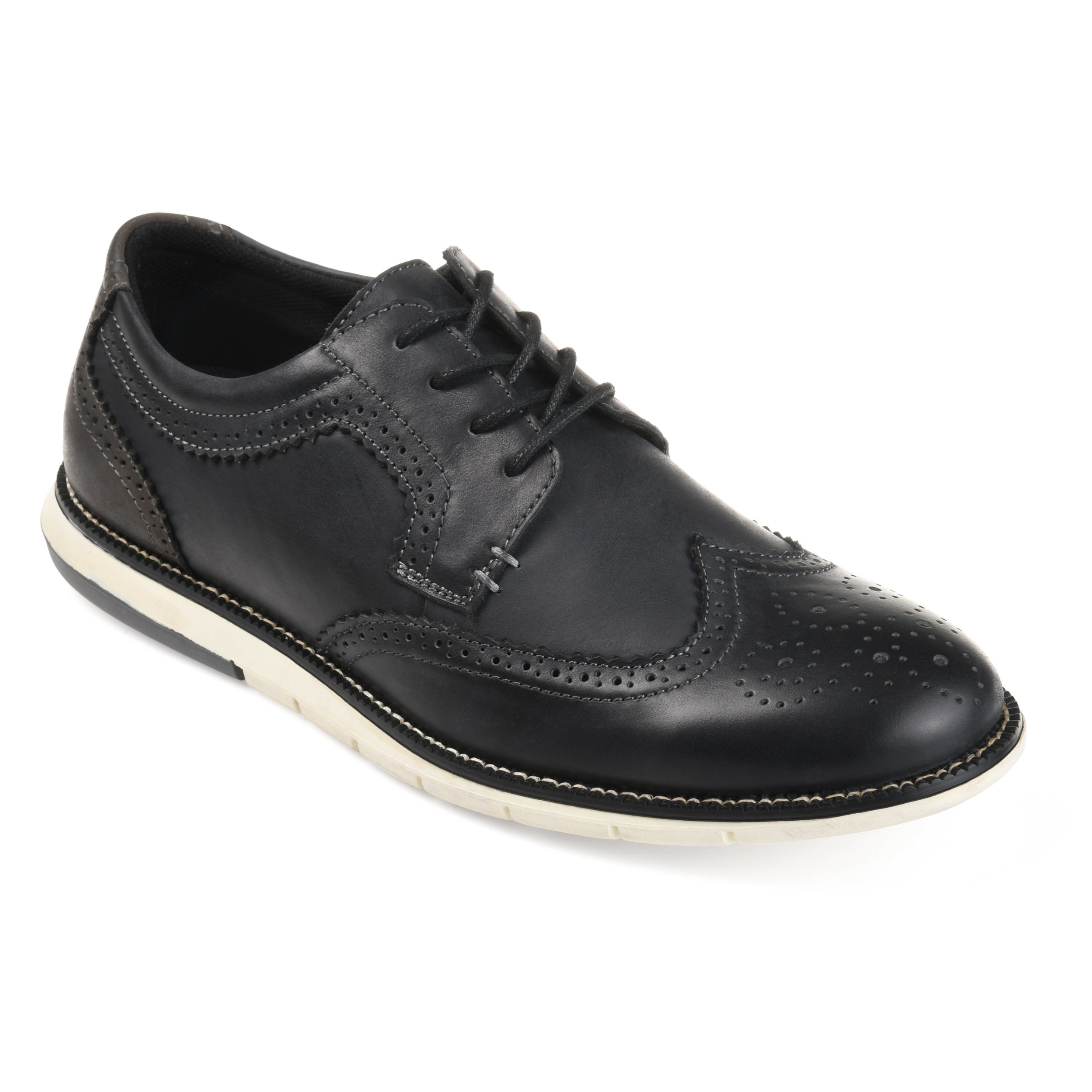 mens black leather shoes with white soles