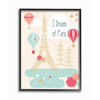 Stupell Industries I Dream Of Paris Framed Giclee Wall Art