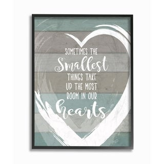 Stupell Industries Smallest Things Most Room In Heart Framed Wall Art (2 options available)