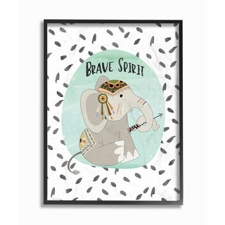 Stupell Industries Brave Spirit Tribal Elephant Framed Giclee Wall Art