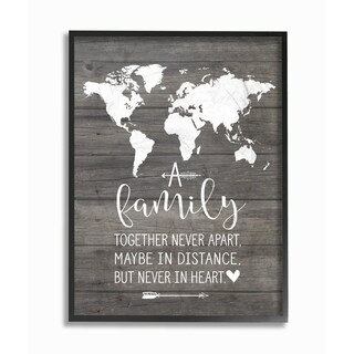 Stupell Industries Family Together In Heart Framed Giclee Wall Art