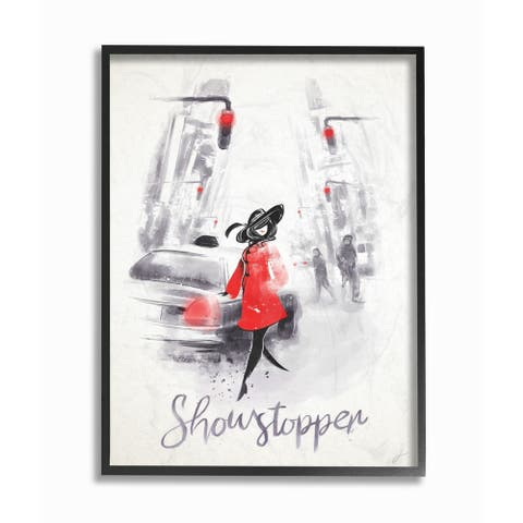 Stupell Industries Showstopper Glam Fashion Framed Giclee Wall Art