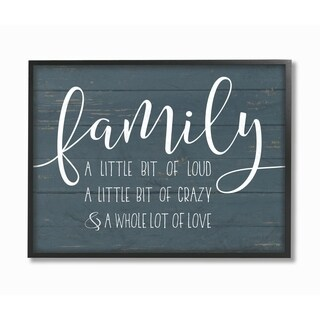 Stupell Industries Family Loud Crazy Love Framed Giclee Wall Art (2 options available)