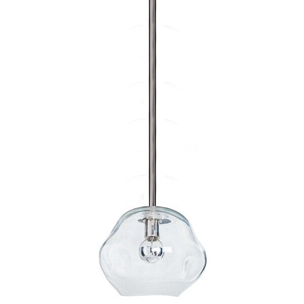 Molten Pendant Small With Clear Glass (Polished Nickel)
