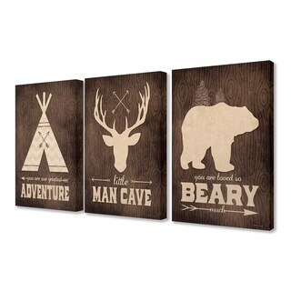 Stupell Industries Little Man Cave Adventure 3 Pc. Wall Art (2 options available)