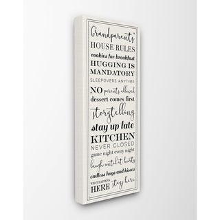 Stupell Industries Grandparents House Rules Wall Art