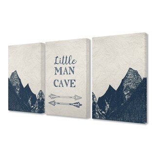 Stupell Industries Little Man Cave 3 Pc. Wall Art