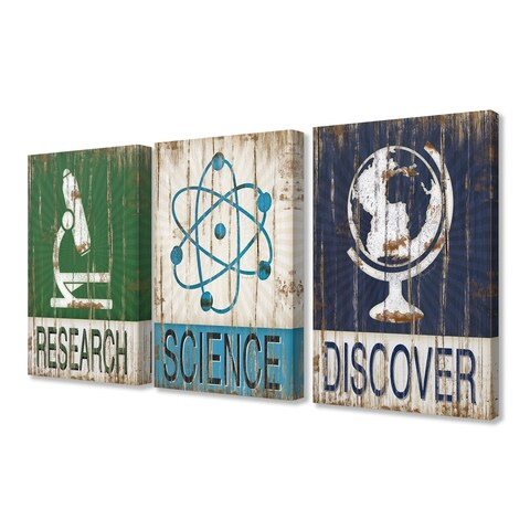 Stupell Industries Research Science Discover 3 Pc. Wall Art Set