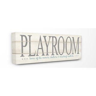 Stupell Industries Playroom Home Of Mischief Makers Wall Art