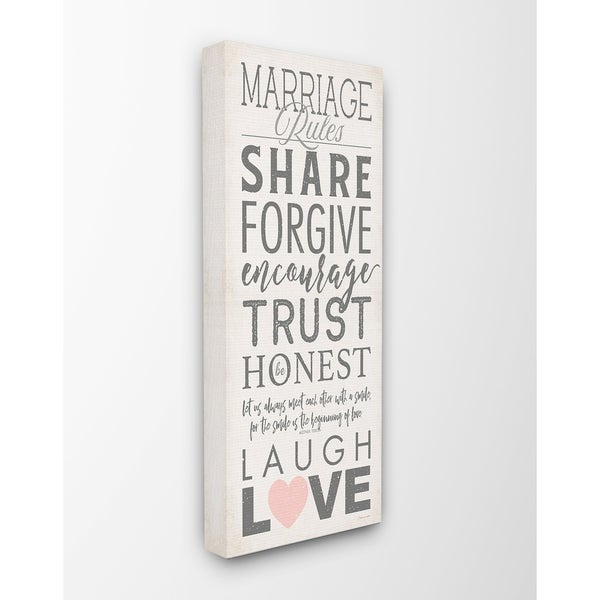 Shop Stupell Industries Marriage Rules Laugh And Love Wall Art - On ...