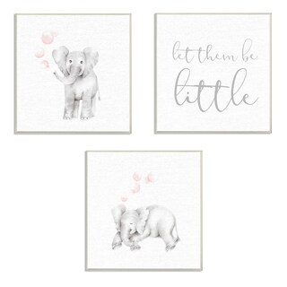 Stupell Industries Let Them Be Little 3 Pc. Wall Art Set - wood plaque - 12 x 12