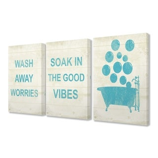 Stupell Industries Wash Away Soak Vibes 3 Pc. Wall Art Set