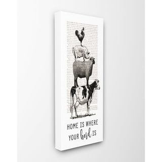 Stupell Industries Home Is Where Your Herd Is Wall Art