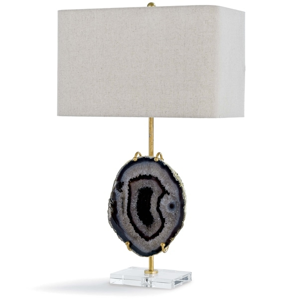 Exhibit Table Lamp (Gold & Smoke Agate)