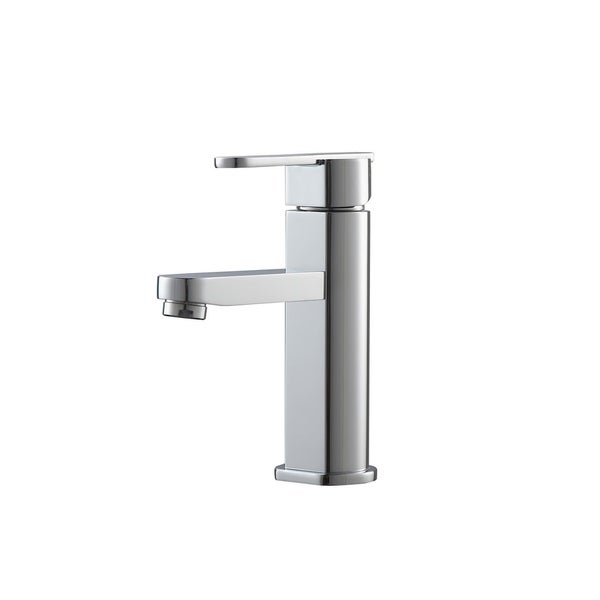 Shop Aqua Roundo Single Hole Mount Bathroom Vanity Faucet Chrome