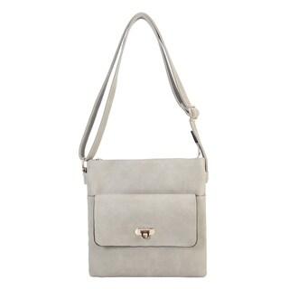 Rimen & Co. Front Flap Pocket Multi Spaced Cross Body Handbag - M