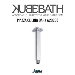 "Aqua Piazza by KubeBath 6"" Long Shower Head Ceiling Bar"