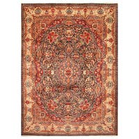 Handmade Herat Oriental Persian Hand-Knotted Kashmar Wool Rug - 9'10 X 12'10