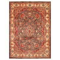 Handmade Herat Oriental Persian Hand-Knotted Kashmar Wool Rug - 9'10 X 12'10 (Iran)