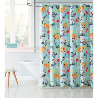 "Laura Hart Kids Party Animals 72"" x 72"" Shower Curtain"