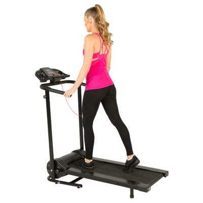 FITNESS REALITY TRE2500 Folding Electric Treadmill with Goal Setting - Black